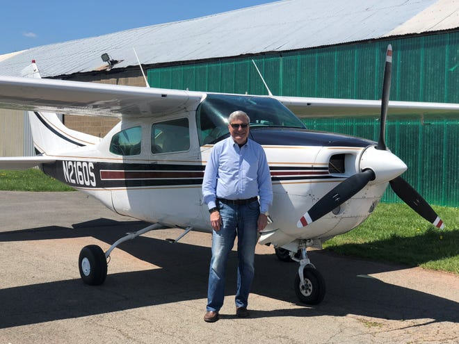 On Oct. 26, 82-year-old Dr. Ed Galkinwill climbinthe cockpit of his 1976 Cessna 210and take to the air tofly around the world to bring awareness to and raise funds to combat Alzheimer's disease.