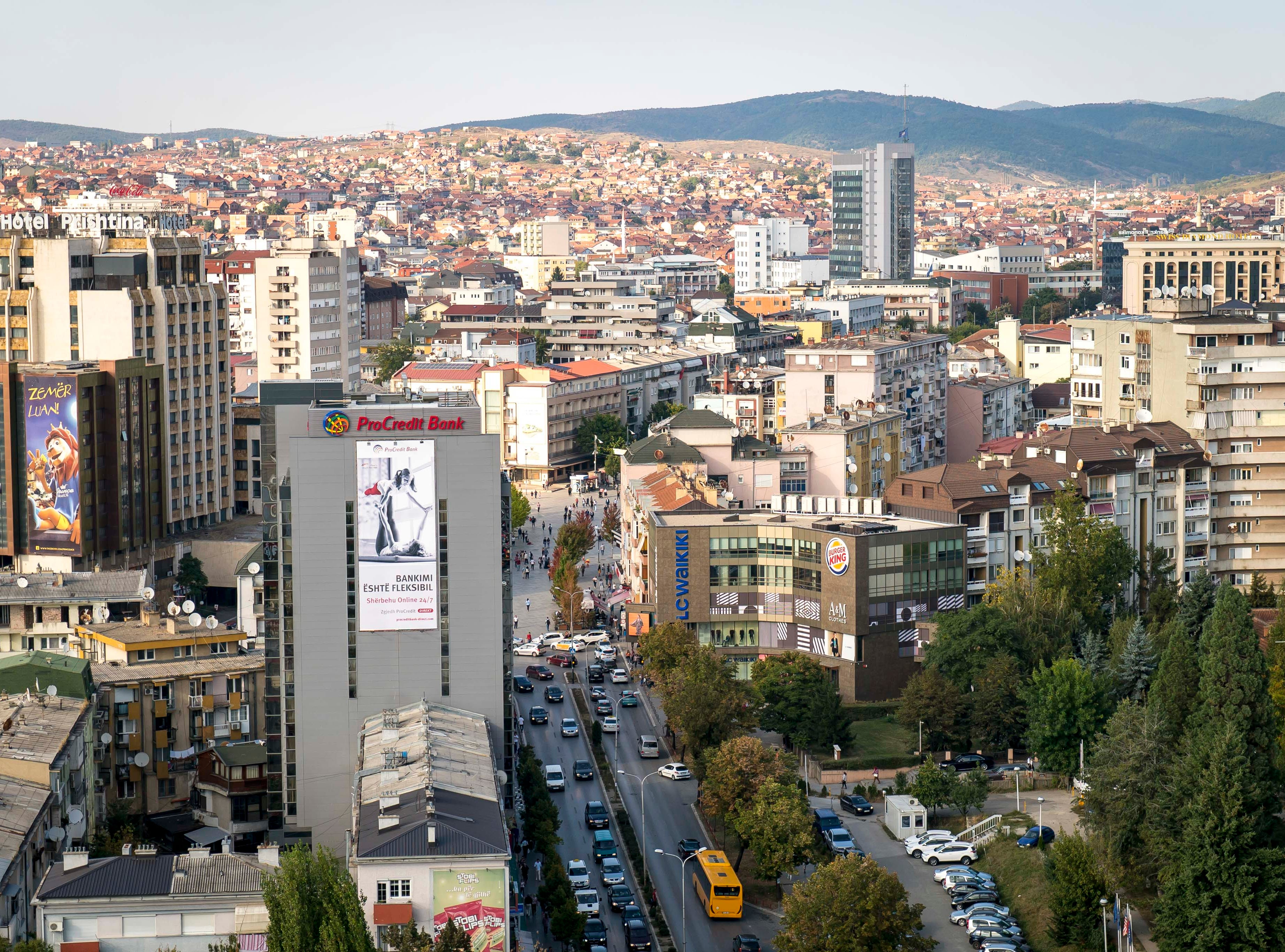 Pristina, Kosovo, Tuesday, Sept. 18, 2018. Iowa is the Sister State to Kosovo and Des Moines is negotiating to become the sister city to Pristina.