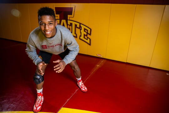 Iowa State Wrestling's David Carr poses for a photo on the team's media day, Tuesday, Oct. 23, 2018, on the Iowa State campus.