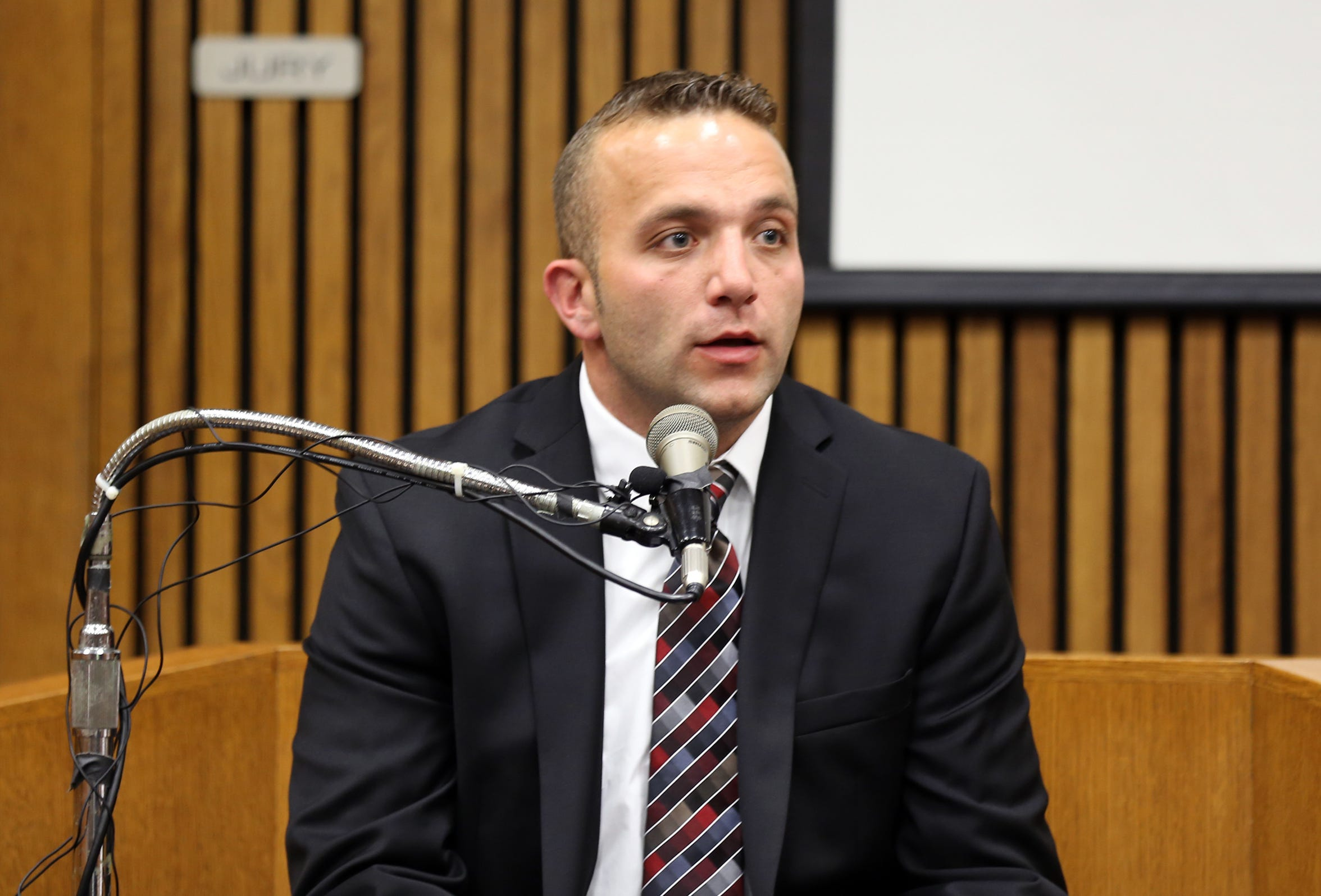 Former Inkster Auxiliary Officer John Zieleniewski testified during the trial of former Inkster police officer William Melendez in 2015.