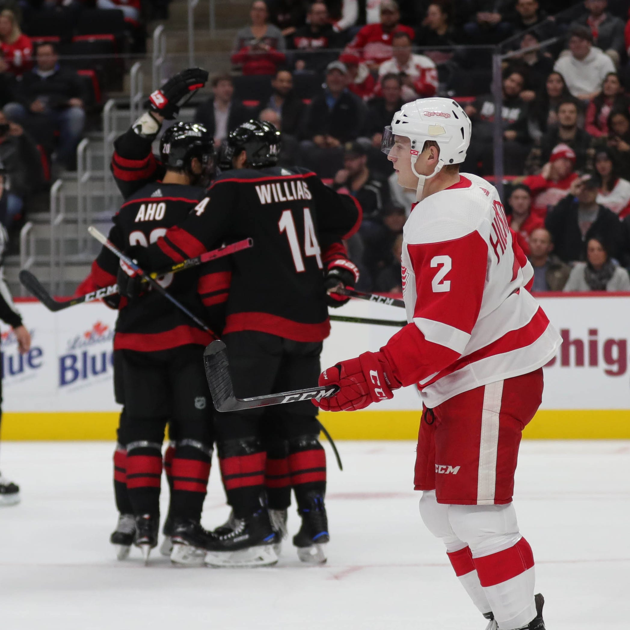 Detroit Red Wings don't belong on same ice as Hurricanes, lose 3-1