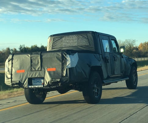 Camouflaged Jeep Scrambler Er Gladiator Travels Along Interstate 94 In The Detroit Area On Oct 23 2018 Photo Phoebe Wall Howard