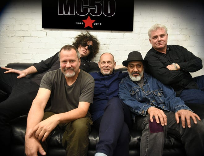 MC50, with Wayne Kramer and Kim Thayil (center)