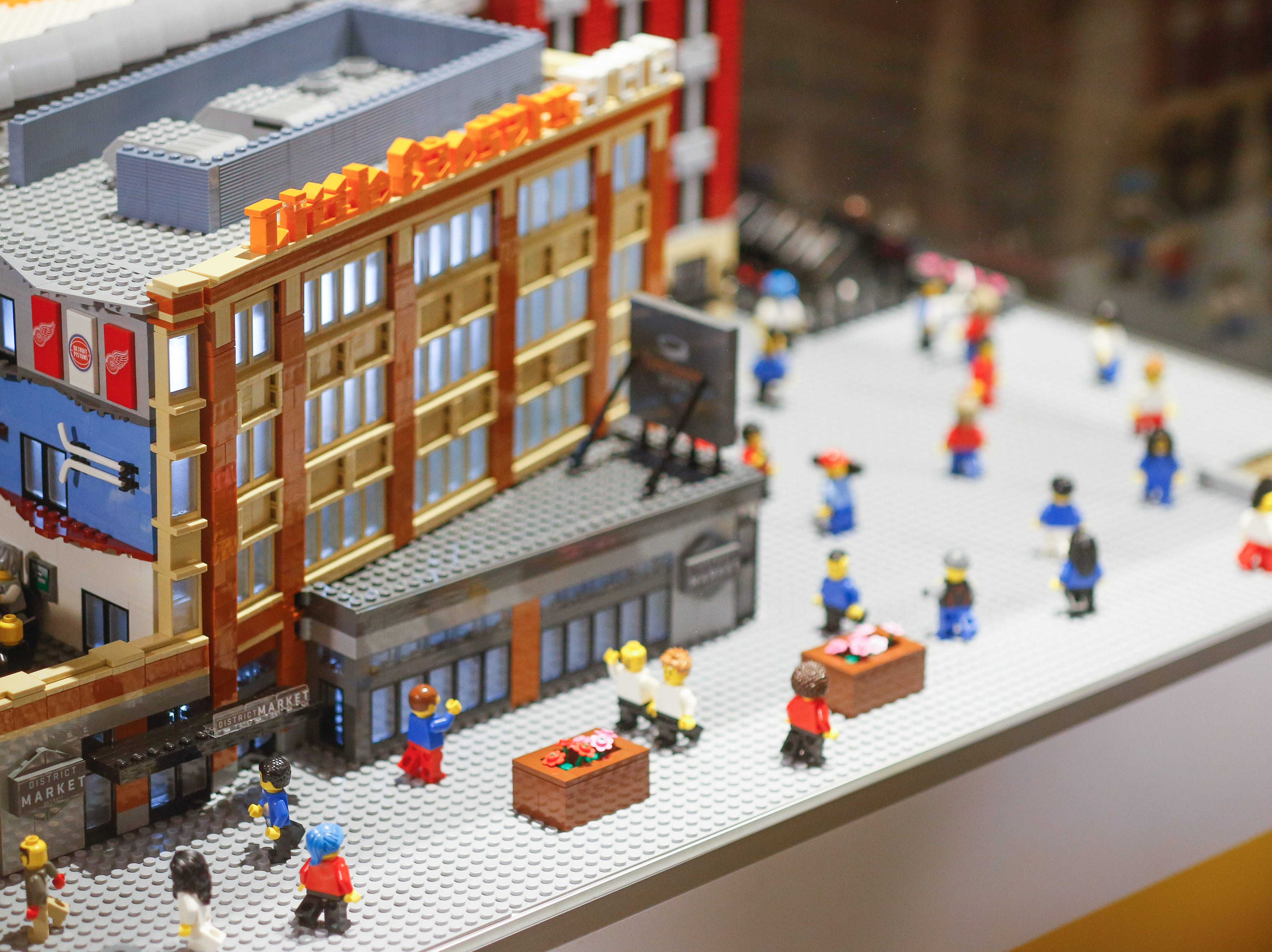 The LEGO model of Little Caesars Arena will be temporarily located at the northeast corner of the concourse near the Gordie Howe statue. It will eventually move to LEGOLAND Auburn Hills.