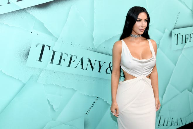 Kim Kardashian West attends Tiffany & Co. Celebrates 2018 Tiffany Blue Book Collection, THE FOUR SEASONS OF TIFFANY at Studio 525 on Oct. 9 in New York City.