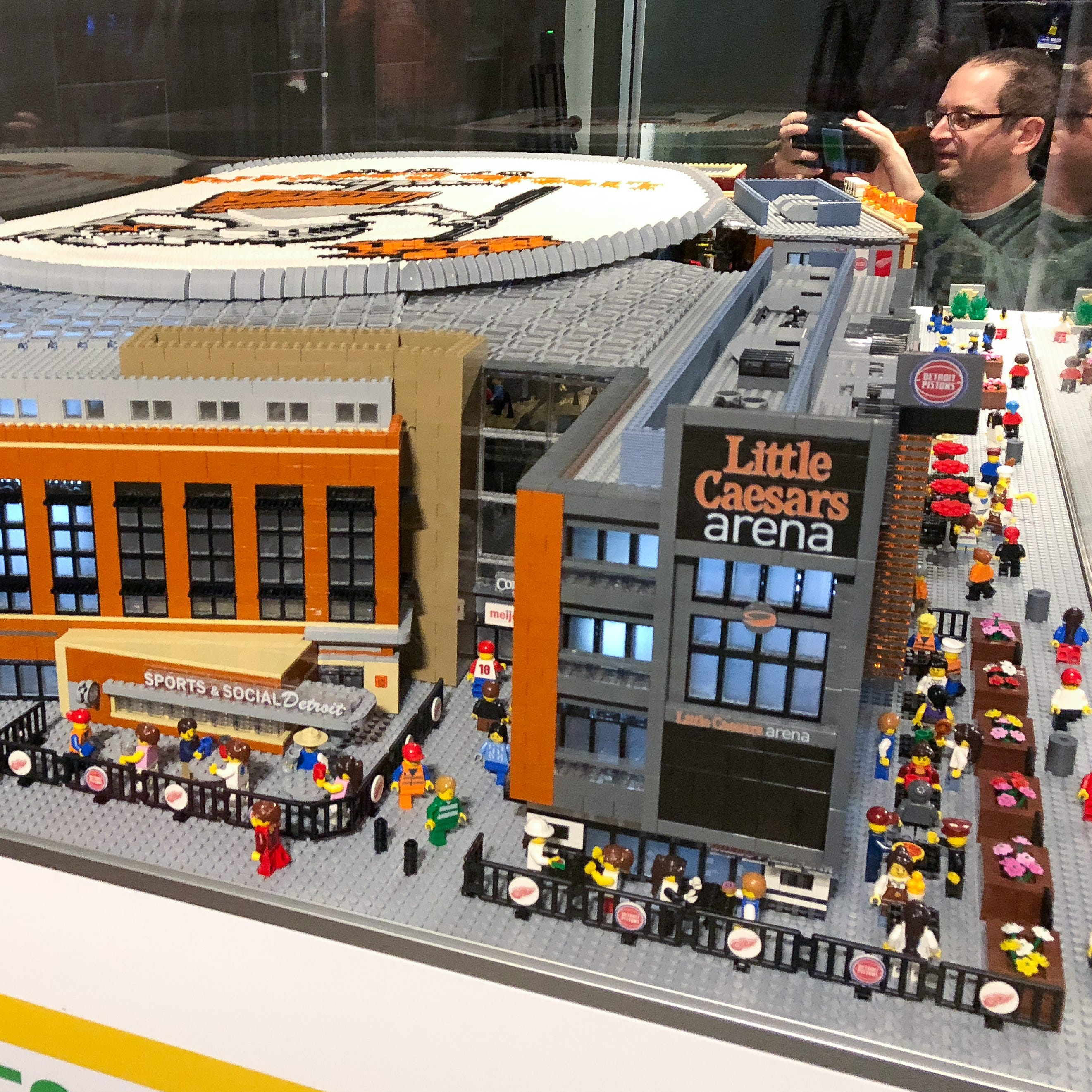 LEGO Little Caesars Arena unveiled at Monday's game