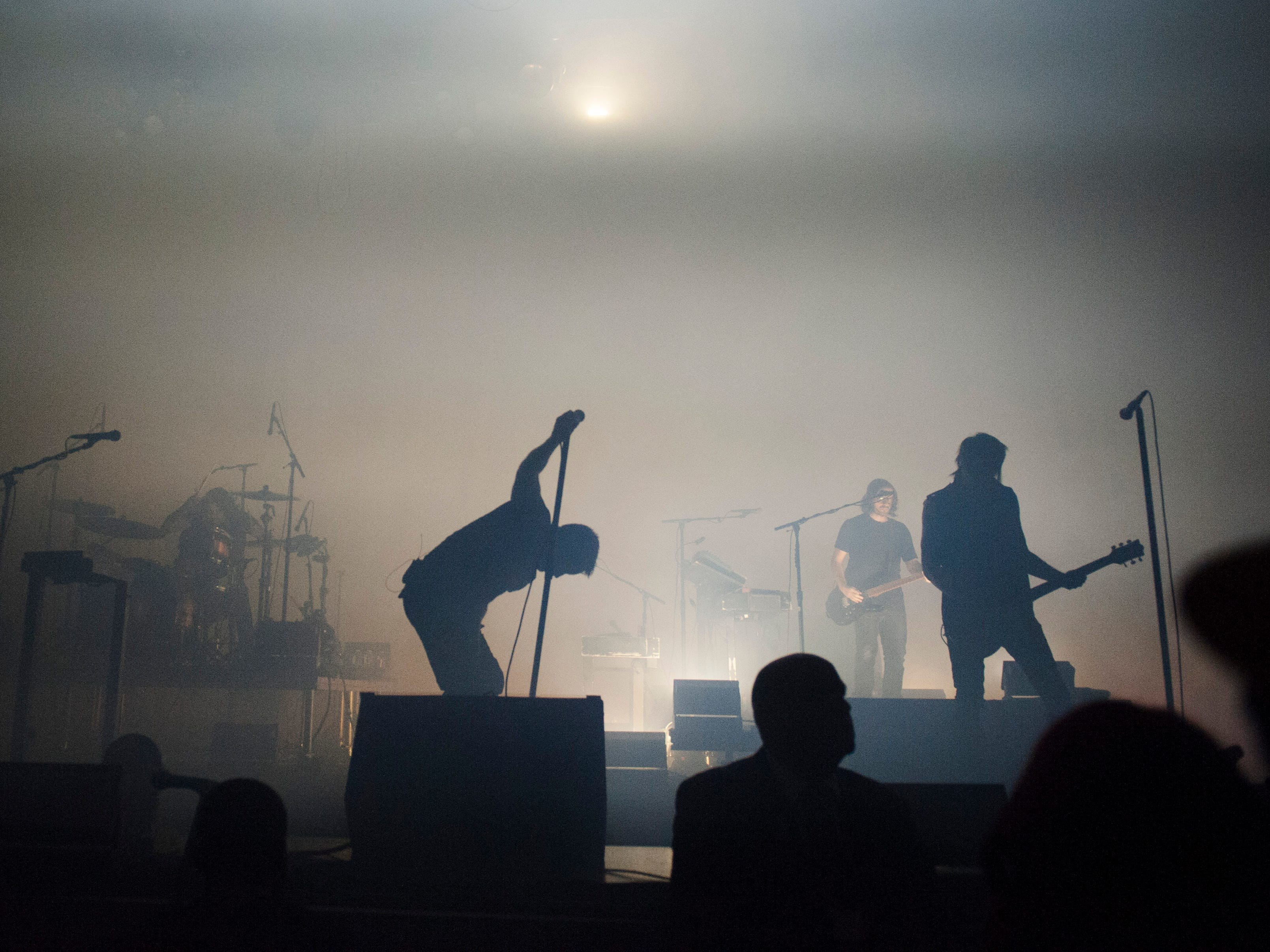 Nine Inch Nails performs at the Fox Theatre in Detroit on Monday.