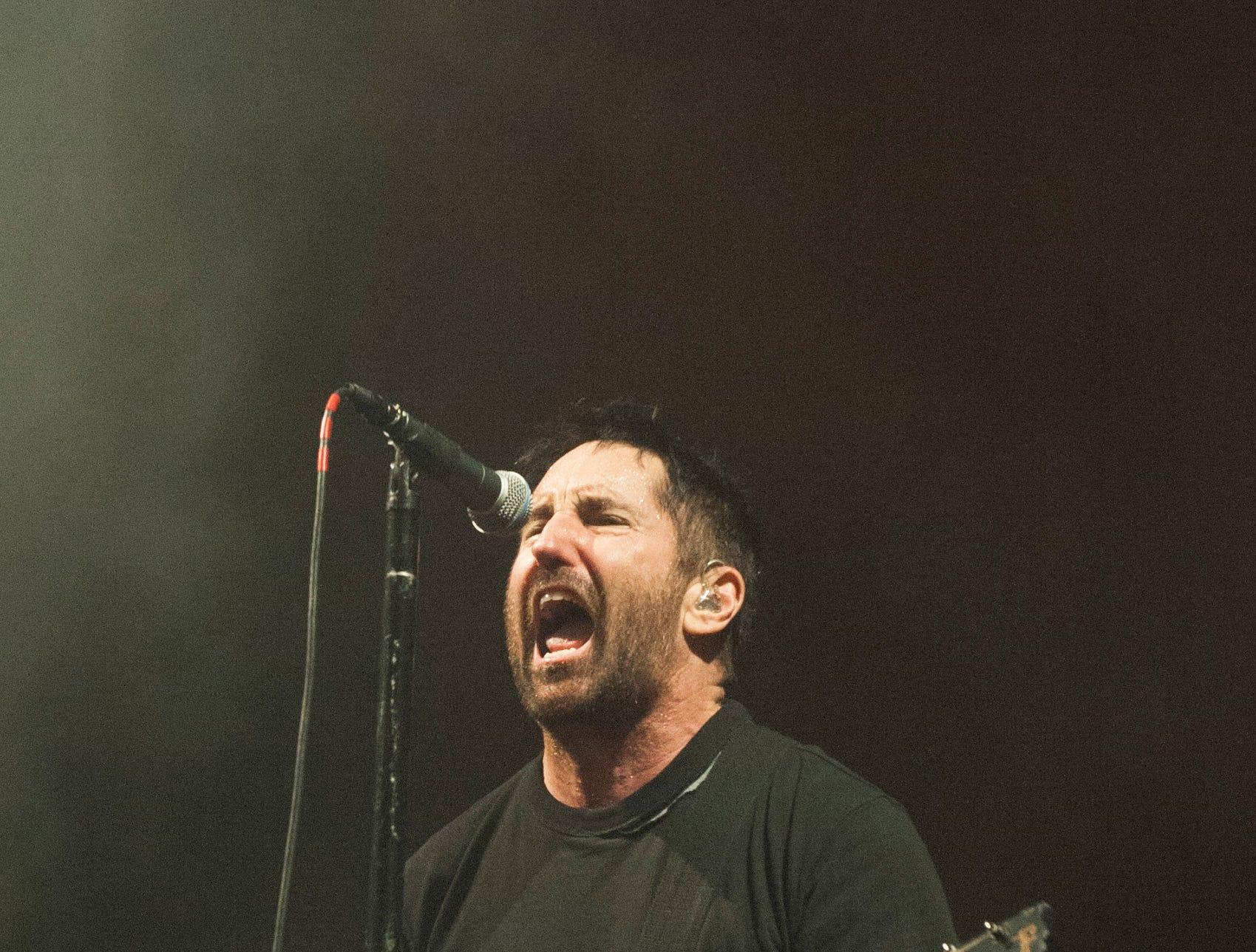 "Nine Inch Nails singer Trent Reznor sings ""Wish."""