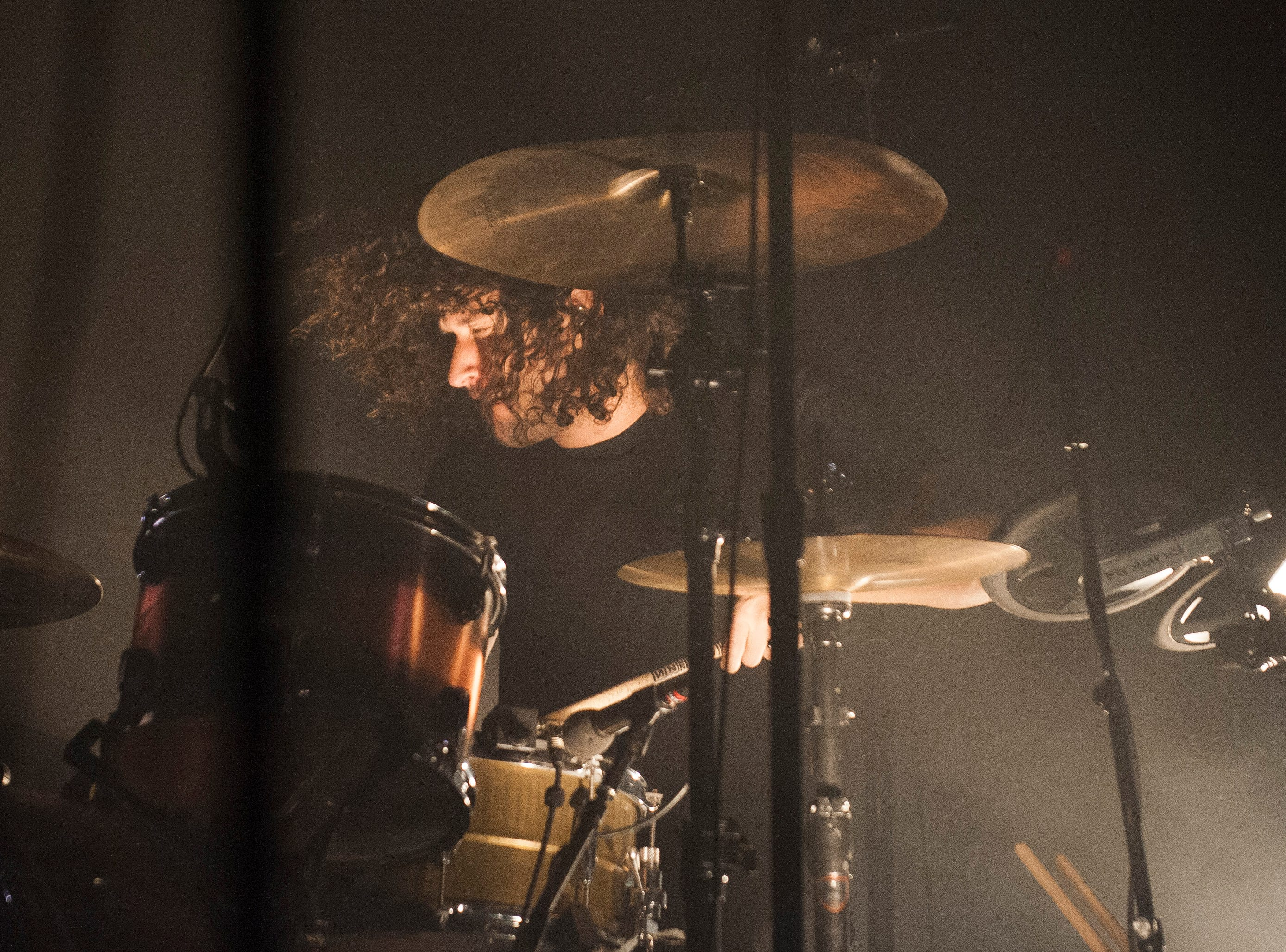 """Nine Inch Nails drummer Ilan Rubin performs the opening beat to """"Wish."""""""