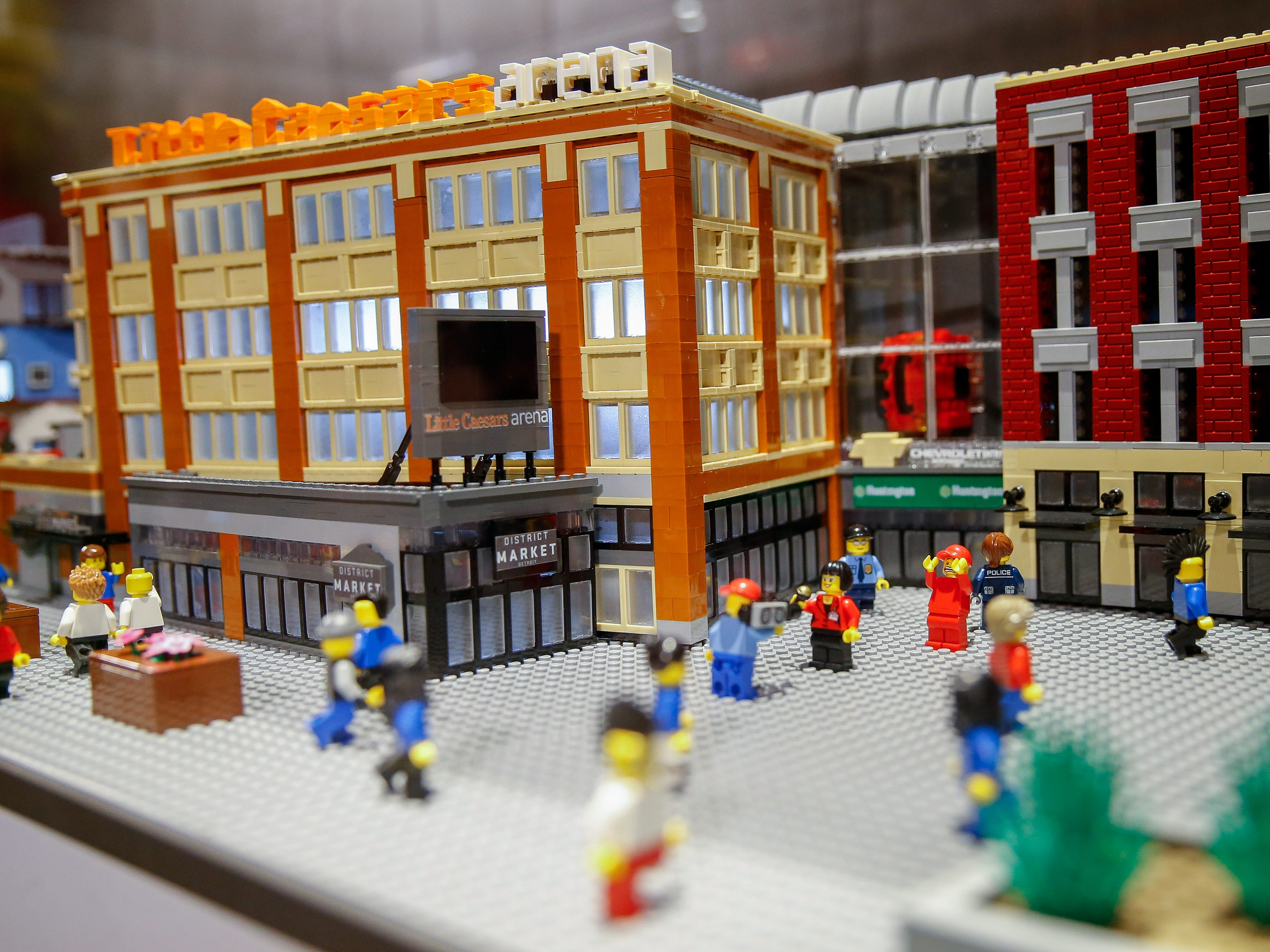 A LEGO-eye view of LEGOLAND's 30,000-piece model of Little Caesars Arena.