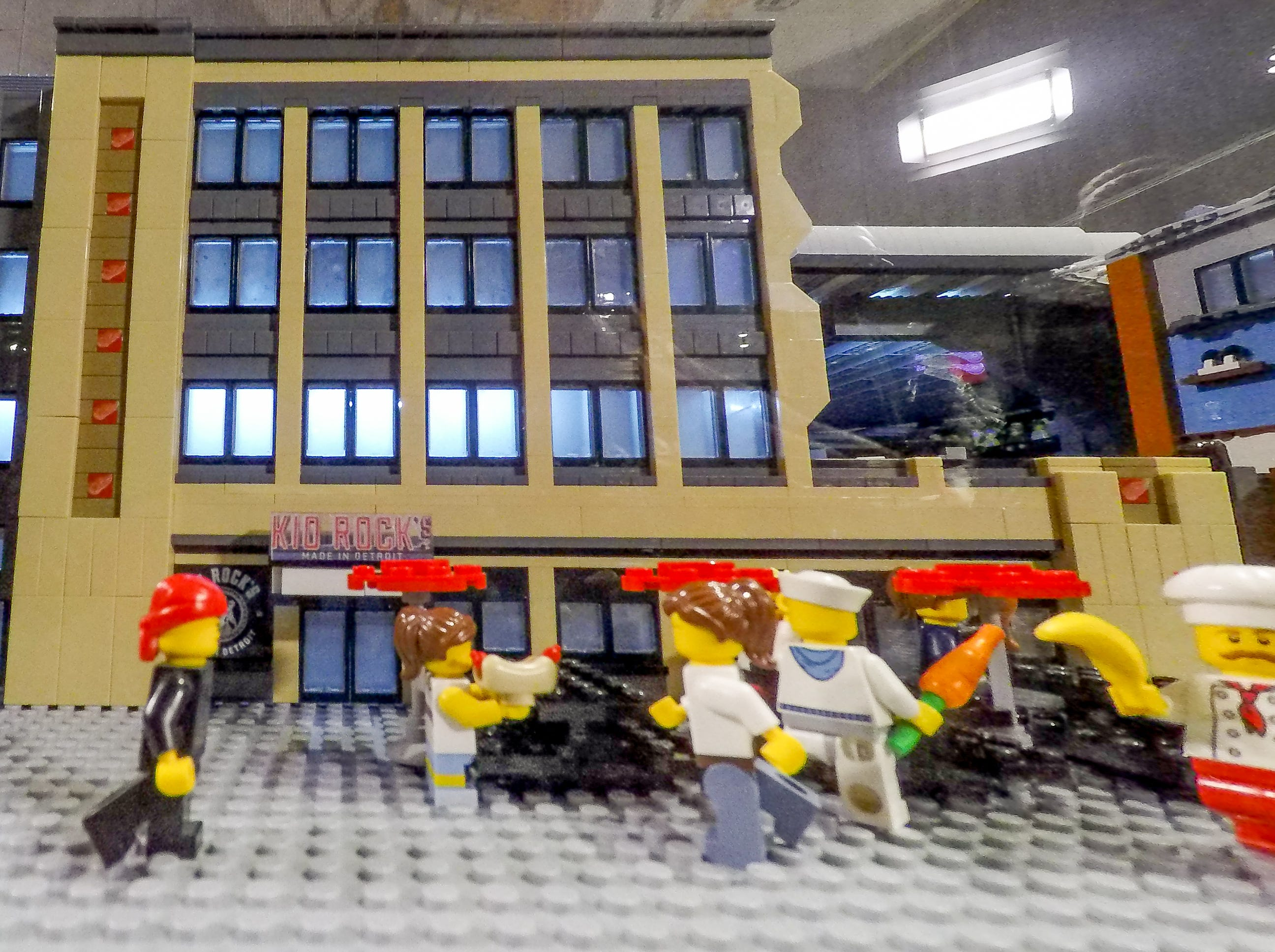 Kid Rock's Made in Detroit restaurant, represented in LEGO.