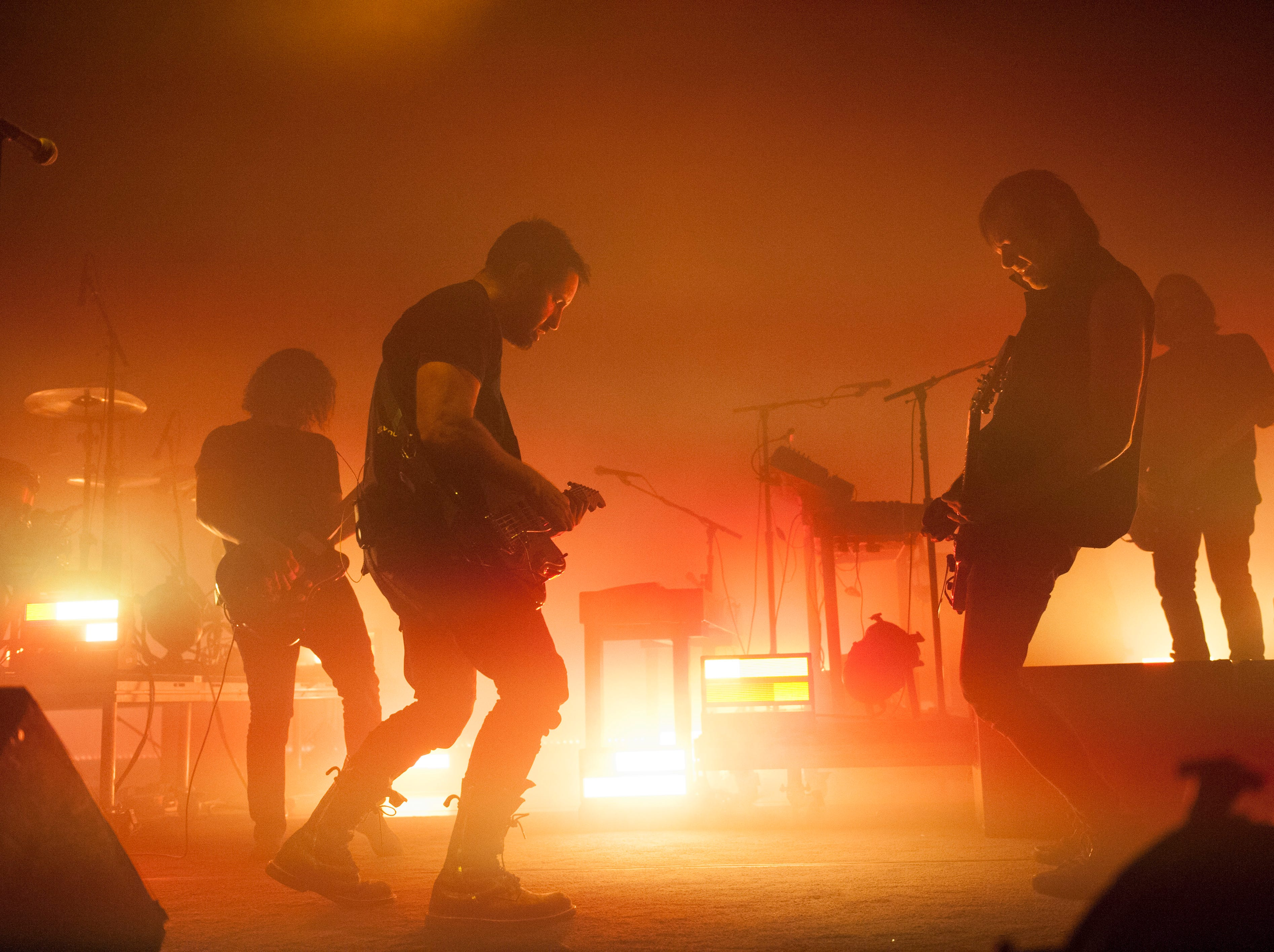 Nine Inch Nails performs at the Fox Theatre in Detroit.