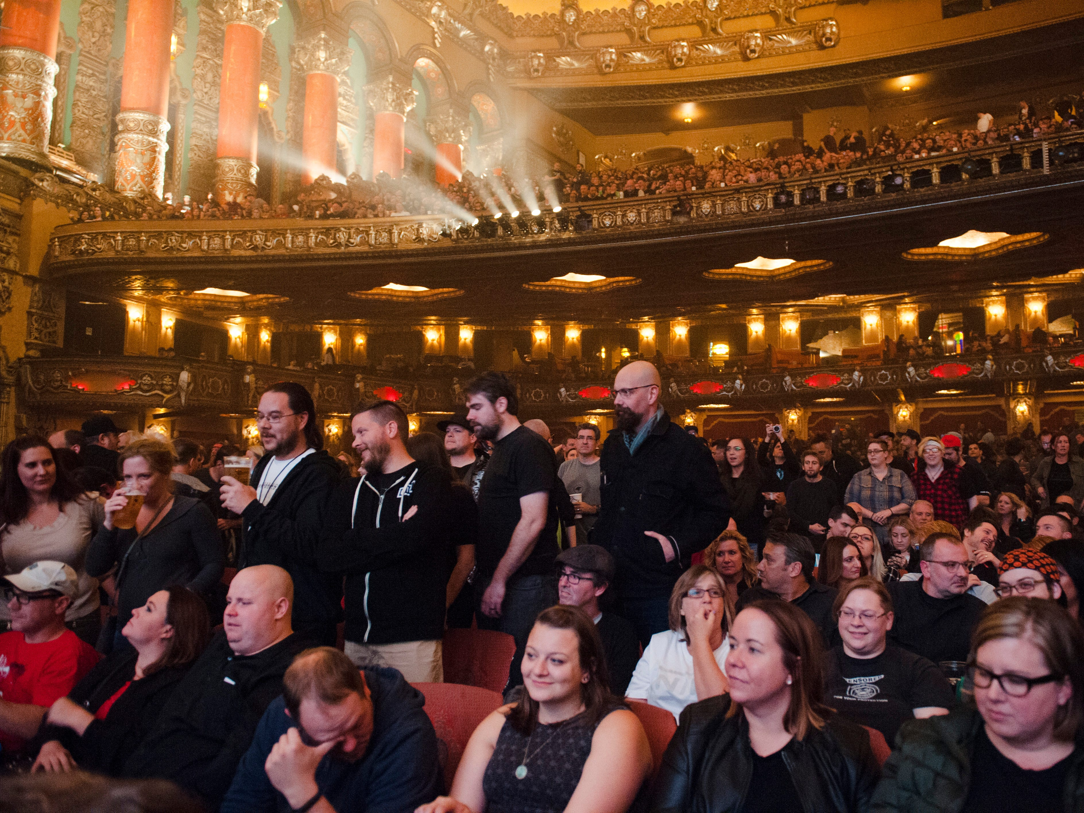 The audience awaits Nine Inch Nails for the first of two nights at the Fox Theatre.