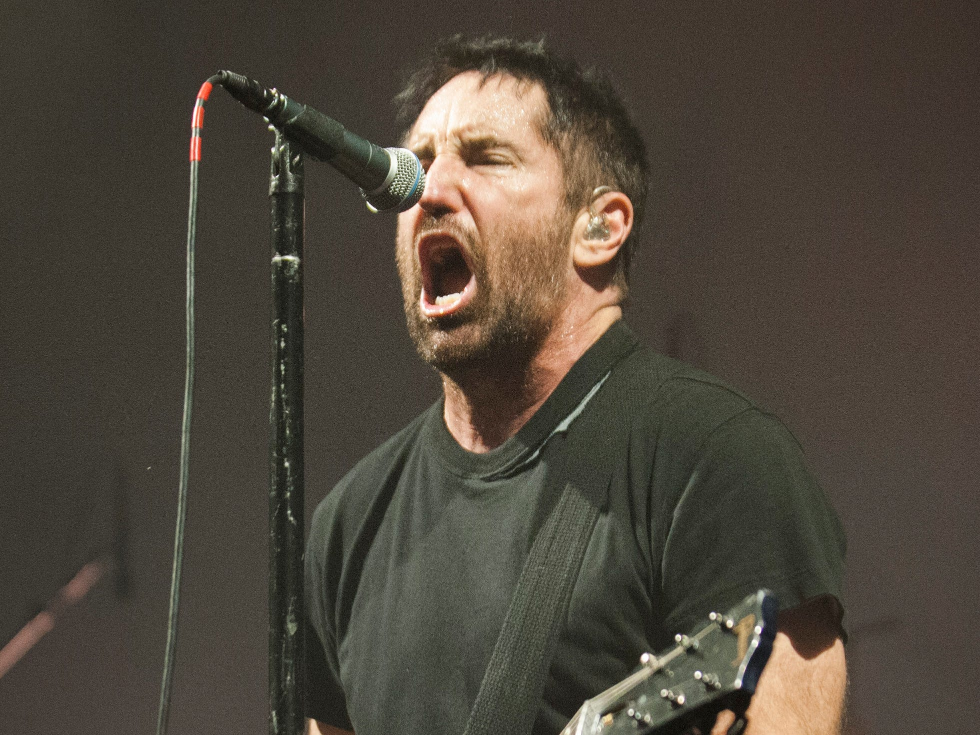 """Trent Reznor of Nine Inch Nails sings """"Wish."""""""