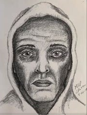 The ATF released a sketch of the suspect made from a witness' account.