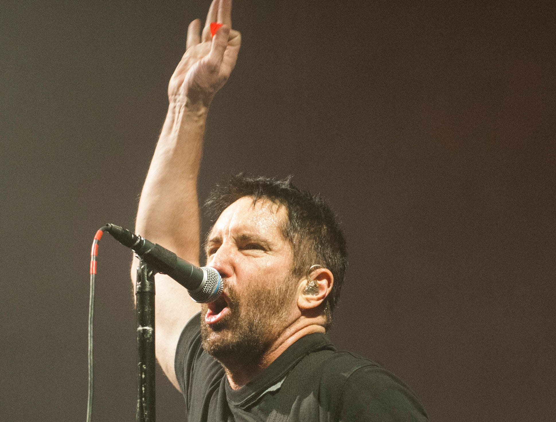 """Trent Reznor of Nine Inch Nails sings """"Wish"""" at the Fox Theatre in Detroit."""