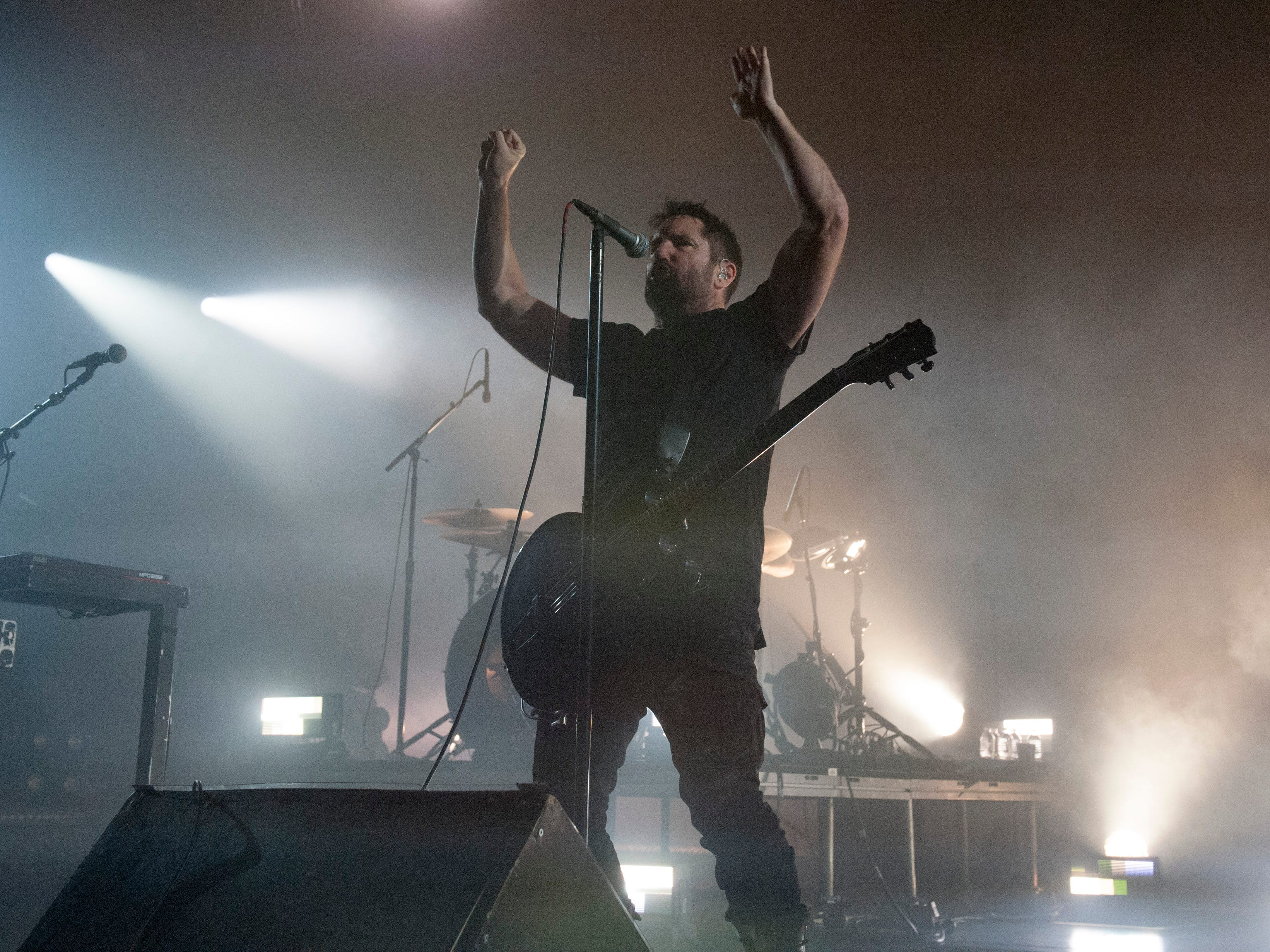 """Trent Reznor of Nine Inch Nails performs """"Wish."""""""