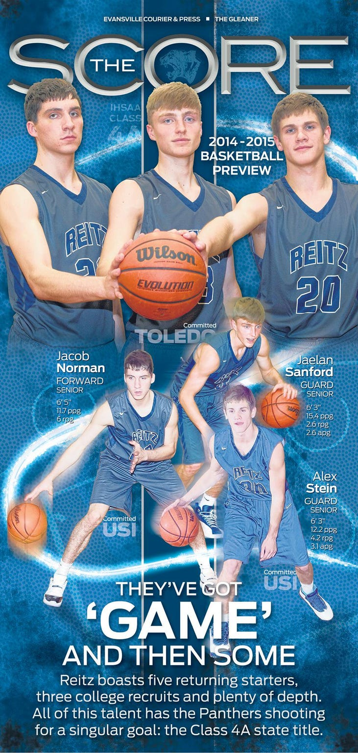 Cover of the 2014-15 Courier & Press basketball section.