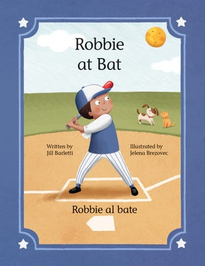 """""""At Bat"""" is Jill Barletti's third children's book, and like it's predecessors, its characters may be customized to match its reader and its reader's family."""