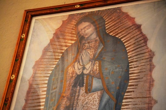 This copy of the image of Our Lady of Guadalupe, a sacred and influential image in the Catholic Church, hangs in St. Joseph Catholic Church.