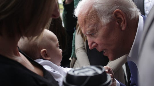 Despite the tight schedule, Joe Biden took time to greet even the smallest Tallahassee residents.