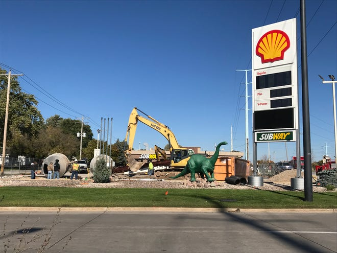 The Dino Stop at 1828 S. Ashland Ave. is  adding gas pumps and a car wash.
