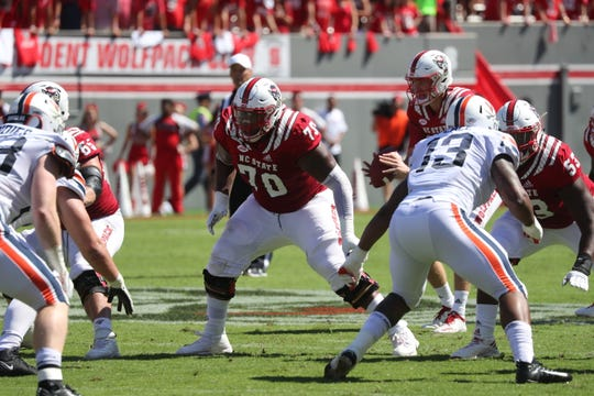 N.C. State's Terronne Prescod (70) was recently recognized as a Midseason All-American by Sports Illustrated.