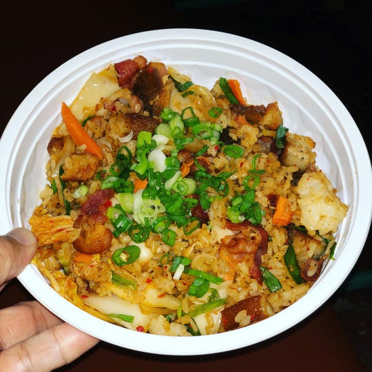 The Kim Chee Fried Rice is not a part of the regular menu at Poki Fry, but when it is offered, I certainly order it. Kim Chee plus pork belly topped with green onions create a savory flavor combination you won't soon forget. It was definitely worth the wait.
