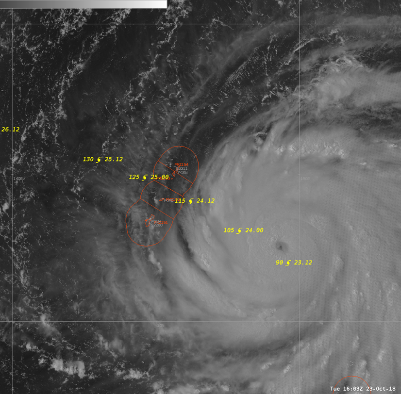 The latest: Guam to go into COR 1 at 5 p.m. as Yutu moves toward Marianas