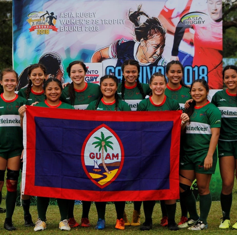 Guam's lady ruggers take 3rd in Brunei