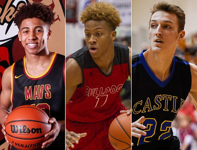 Left to right: Robert Phinisee, Romeo Langford and Jack Nunge.