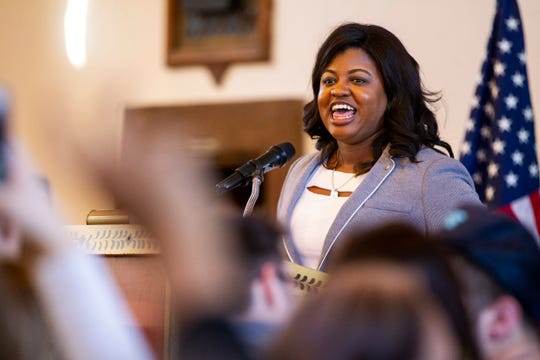 Deidre DeJear ran for Iowa secretary of state in the November 2018 election but lost to Paul Pate.