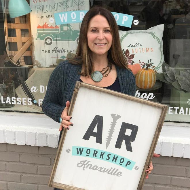 Amy Thomas is the owner of AR Workshop Knoxville, a boutique DIY crafting shop that hosts public and private workshops.