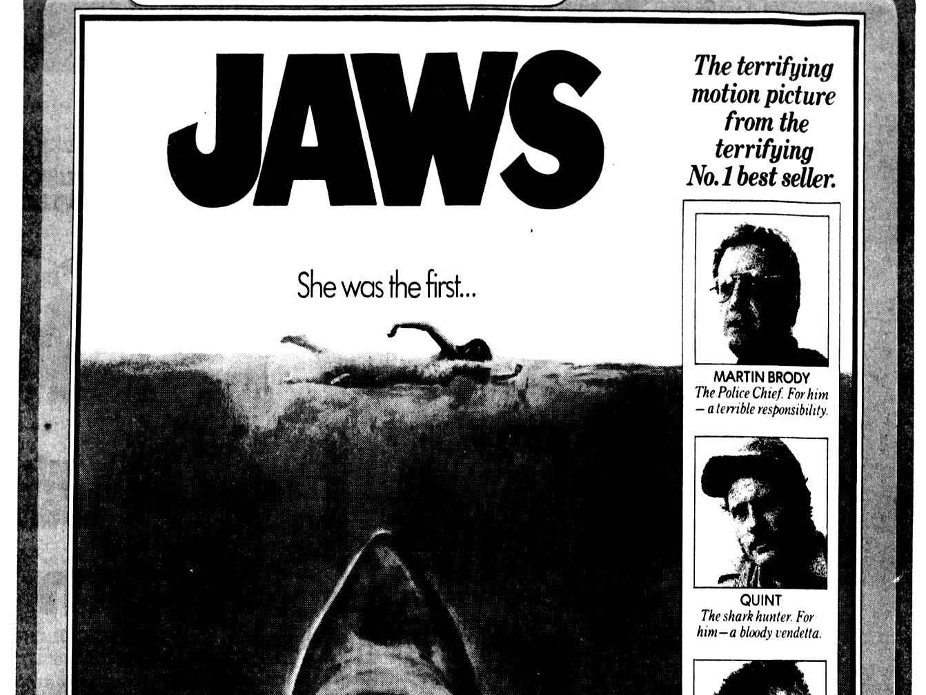 """""""Jaws,"""" Friday, June 20, 1975"""