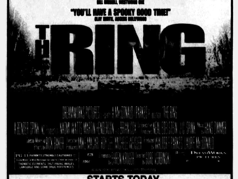 """""""The Ring,"""" Friday, Oct. 18, 2002"""