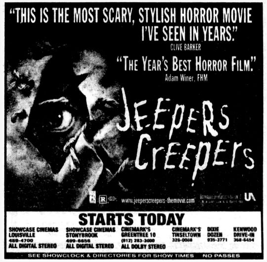 """Jeepers Creepers,"" Friday, Aug. 31, 2001"