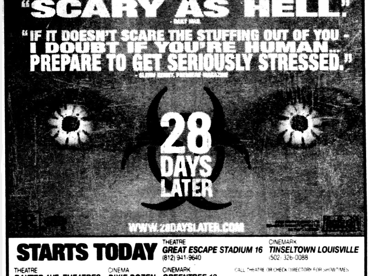 """""""28 Days Later,"""" Friday, June 27, 2003"""