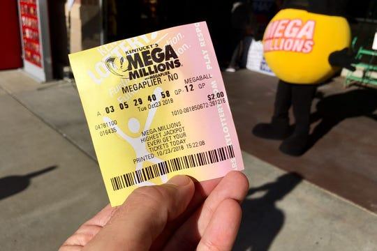 A MegaMillions ticket