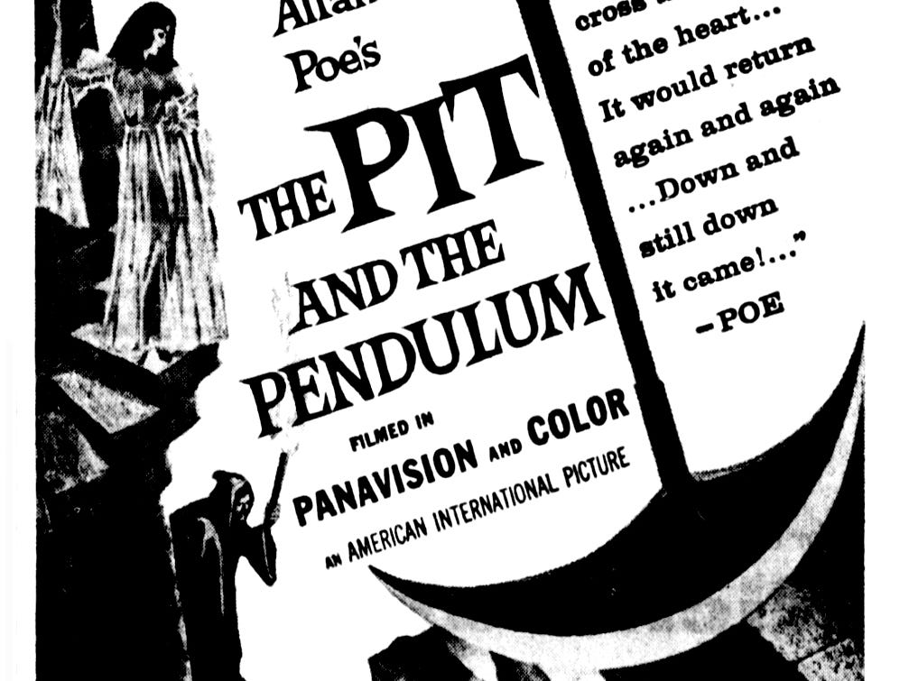 """""""The Pit and the Pendulum,"""" Thursday, Sept. 21, 1961"""