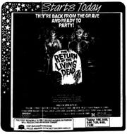 """""""The Return of the Living Dead,"""" Saturday, Aug. 16, 1985"""