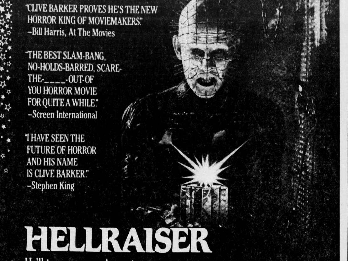 """Hellraiser,"" Friday, Sept. 18, 1987"