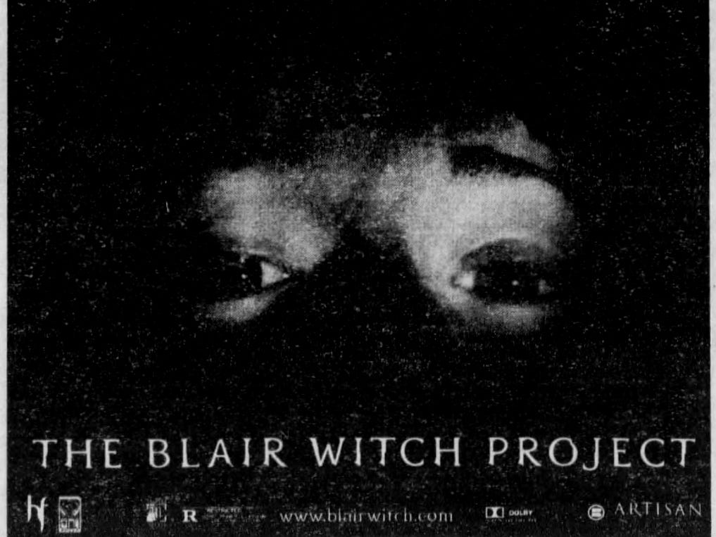"""""""The Blair Witch Project,"""" Friday, July 30, 1999"""