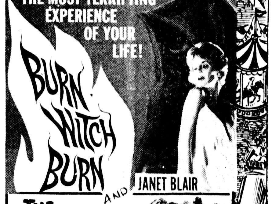 """""""Burn Witch Burn,"""" Sunday, May 20, 1962"""