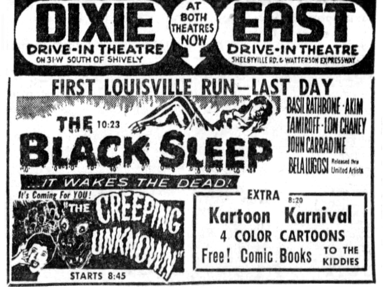 """""""The Creeping Unknown"""" and """"The Black Sleep,"""" Tuesday, Aug. 7, 1956"""