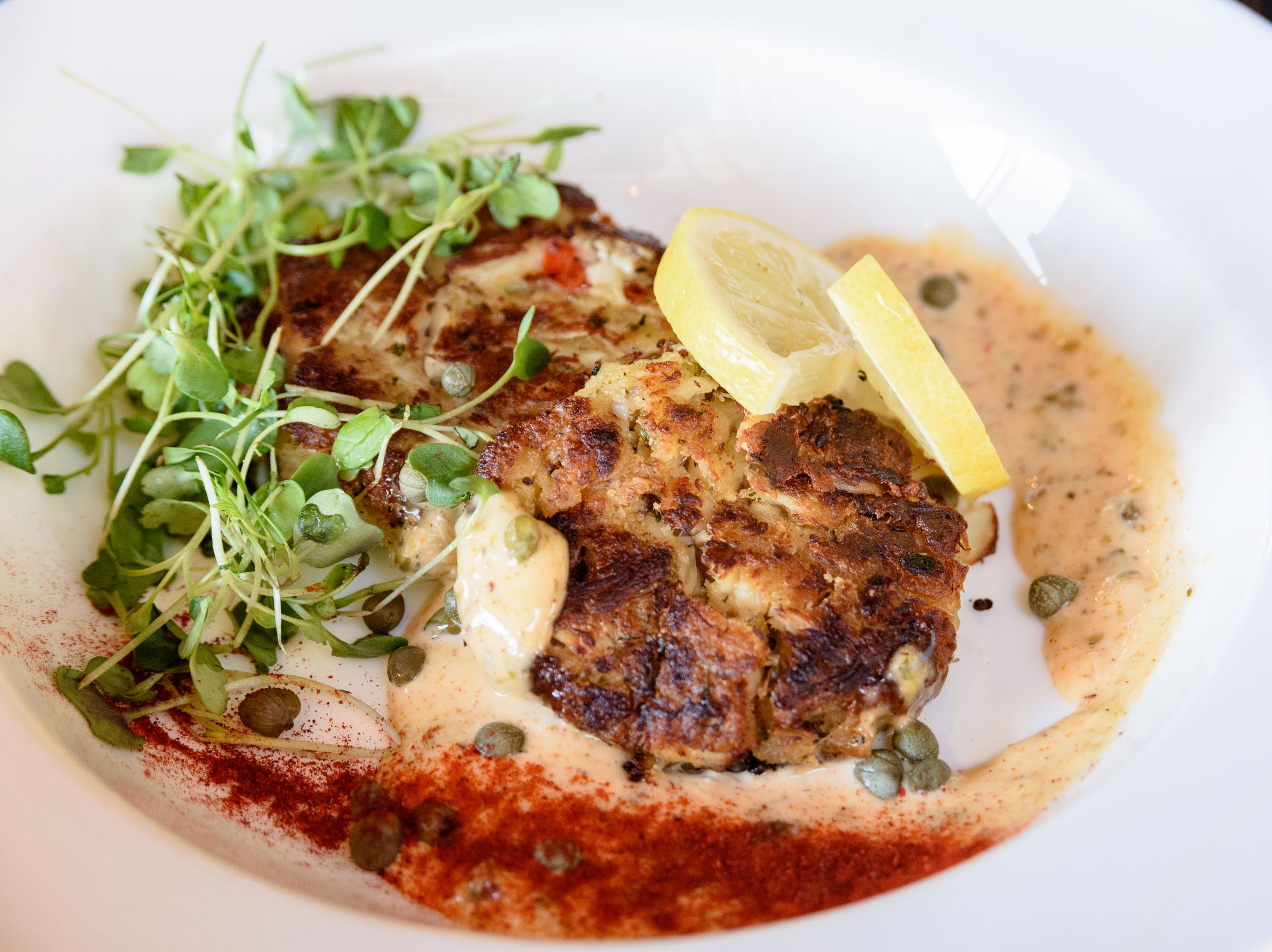 Crab Cakes at The Manhattan Project at 2101 Frankfort Ave. Oct. 18, 2018