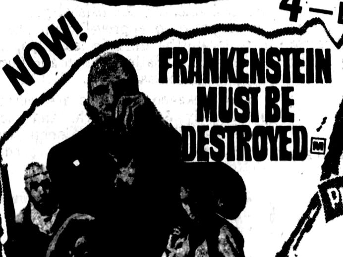 """""""Frankenstein Must Be Destroyed,"""" """"The Devil's Bride,"""" """"Dracula Has Risen from the Grave"""" and """"She Freak,"""" Wednesday, Mar. 4, 1970"""