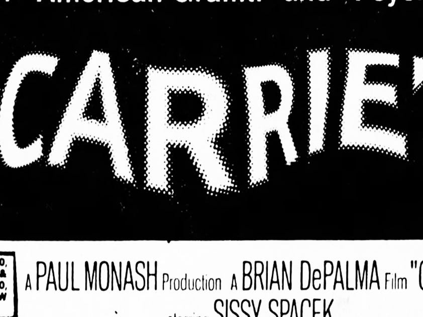 """Carrie,"" Wednesday, Nov. 17, 1976"