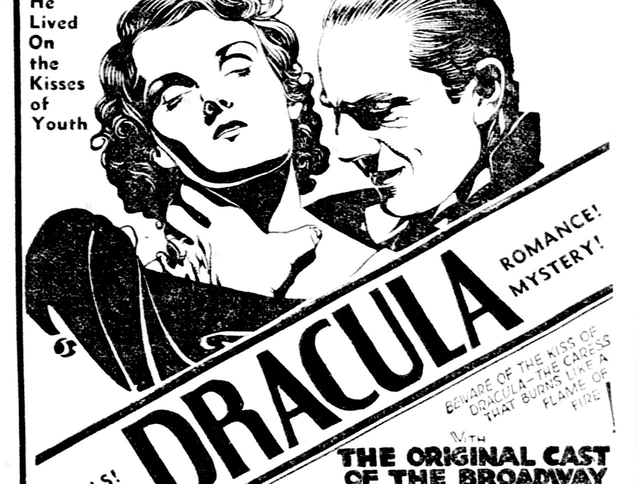 """""""Dracula,"""" Saturday, Feb. 28, 1931"""