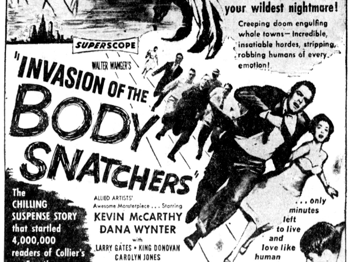 """""""Invasion of the Body Snatchers,"""" Friday, Mar. 23, 1956"""