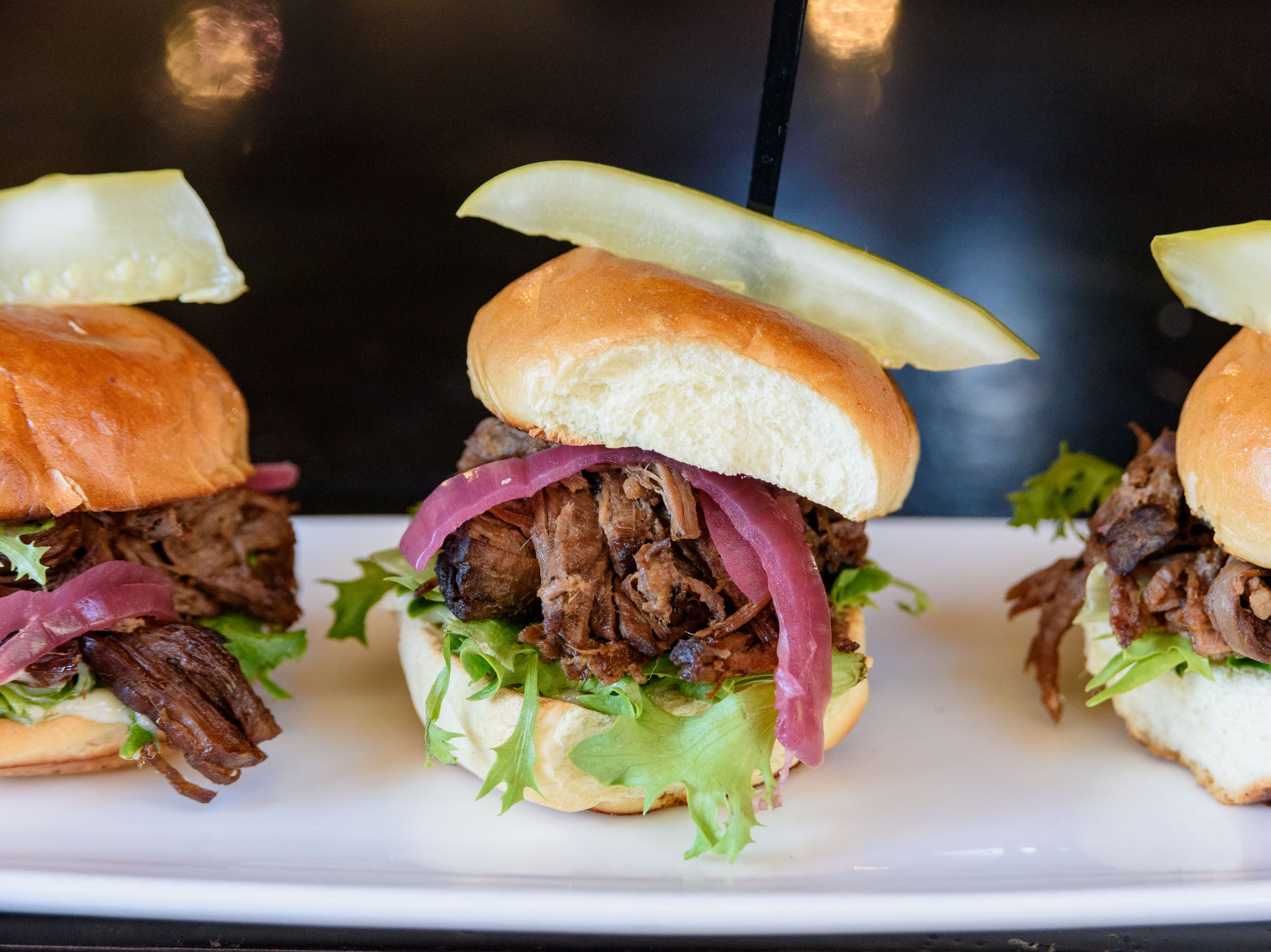 Short Rib Sliders at The Manhattan Project at 2101 Frankfort Ave. Oct. 18, 2018